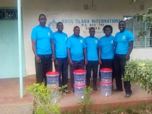 From left to right ACI Kenya staff, Charles, Douglas, Benson, Dominic, Betty, and John