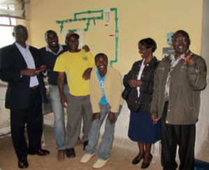 District Governor and his senior staff with new facility system