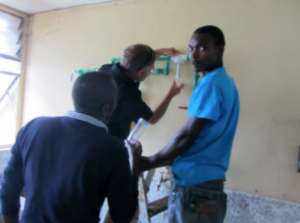 The installation of the ACI facility system provided hands-on training opportunities for ACI-Kenya staff to learn how to construct and install these systems.