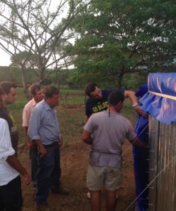 Team NicaraAGUA's Leader, Mario, and ACI's Daniel, Explain the System to Local Farmers